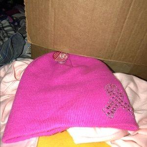 NWT Pink Ribbon Bling Hat